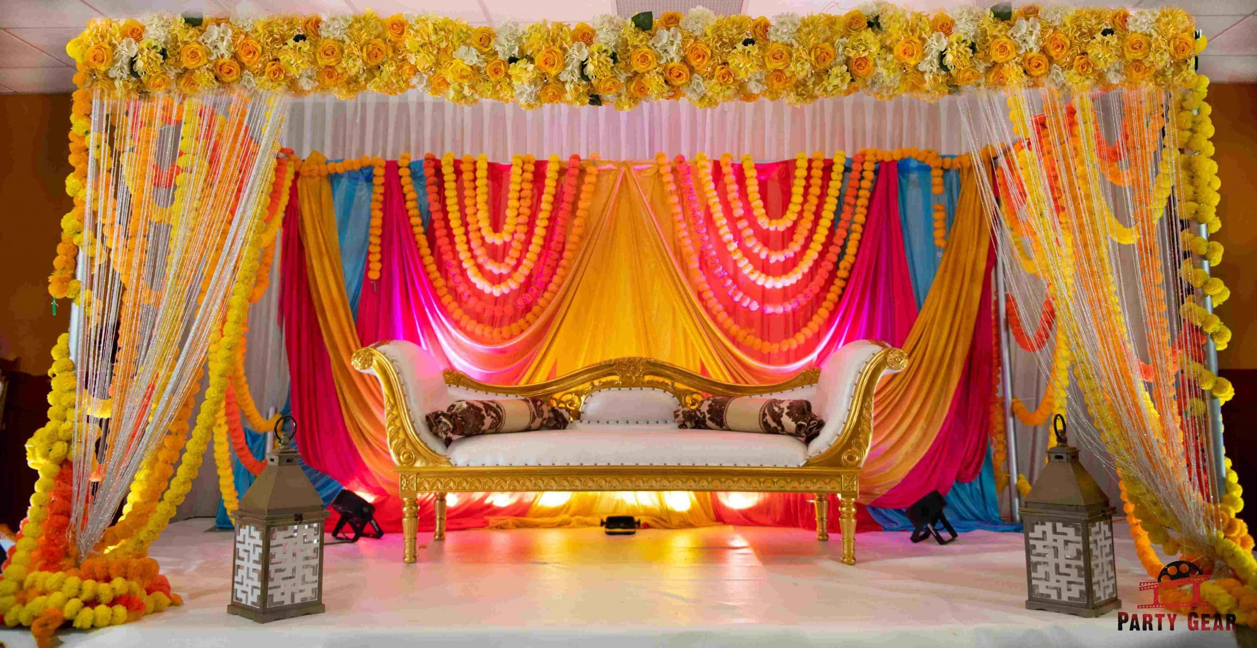 Mehndi Stage Decoration