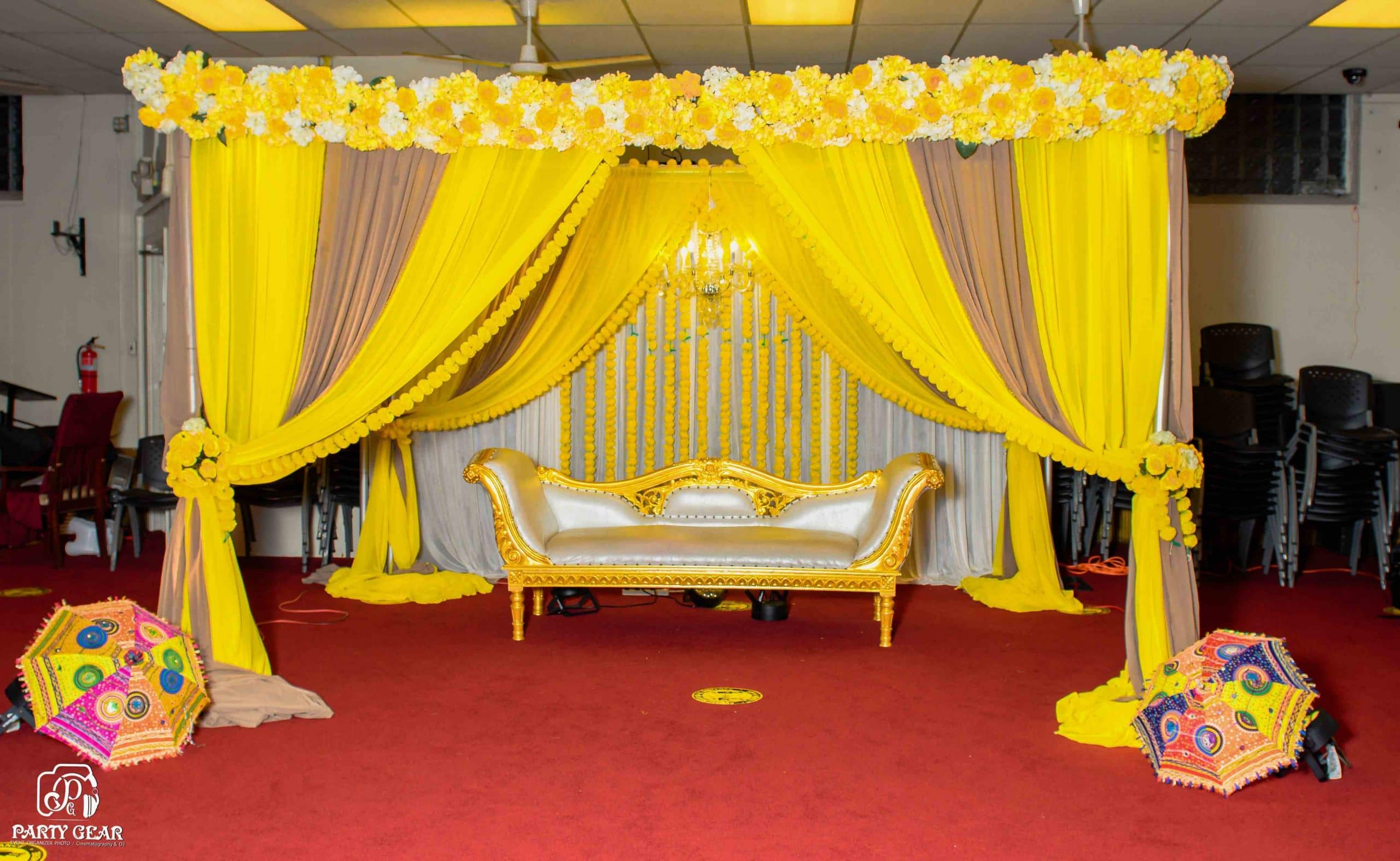 Beautiful Mehndi Stages Decoration 9
