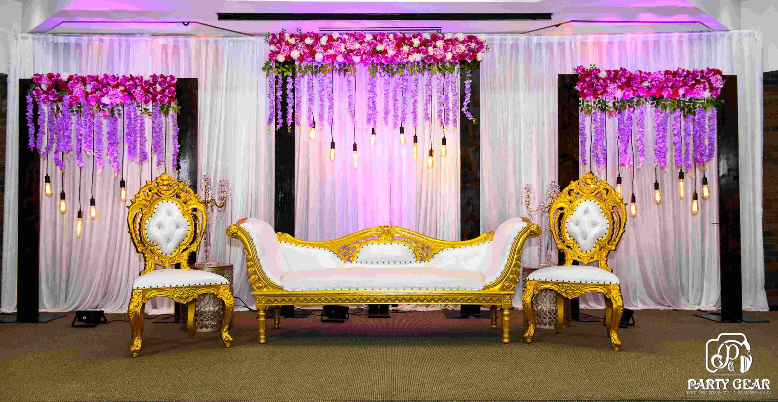 Beautiful Indian wedding stage decoration